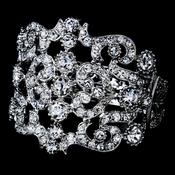 Dazzling Silver Clear Wedding Bracelet B 912