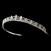 Delicate Silver Clear Rhinestone & Austrian Crystal Headpiece 5635***Discontinued***