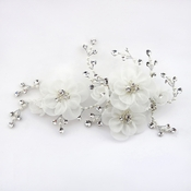 Diamond White Sheer Organza Flower Clip (*Special Order - Minimum 24 Pieces x  $23 each)