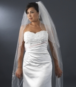 Double Layer Elbow & Cathedral Length Veil with Sparkling Accents V 150***Discontinued***