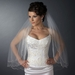 Double Layer Elbow Length Scalloped Edge with Bugle Beads Veil 1504 E