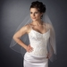 Double Layer Fingertip Length Corded Hemmed Edge with Pearls Veil 82 F