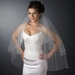 Double Tier Fingertip Length Veil with Swarovski Crystal Edge Accent V 294