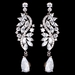 Rhodium Silver Marquise Dangle Earrings 3902***1 Left****