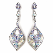 Regal Drop Rhodium Clear Earrings 9894***Discontinued***