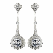 Earring 5355 Silver Clear***Discontinued***
