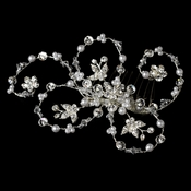 Elegant Pearl & Crystal Hair Accent Comb 1710
