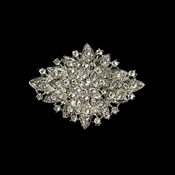 Elegant Vintage Crystal Bridal Pin for Hair or Gown Brooch 14