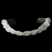 * Elegant Vintage Headband Style Bridal Headpiece HP-8205 White or Ivory