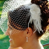 Elegant White or Ivory Feather Hair Fascinator 1533
