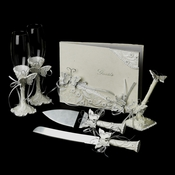 Enchanting Butterfly Matching Pen Set& Flutes & Cake Server Set  **Guest Book Is Discontinued**
