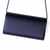 Fabulous Navy Satin Evening Bag 0055