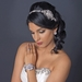 Floral Rhinestone Design Ribbon Headband or Belt 3325