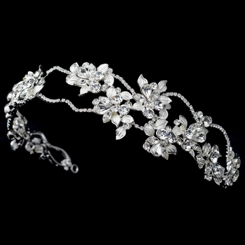 Floral Rhinestone Side Accented Headband 1540