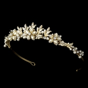 Gold and Ivory Bridal Tiara HP 8100