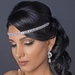 Gold Clear Rhinestone Hair Elastic Headband 2655