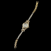 Gold Clear Rhinestone Watch 28