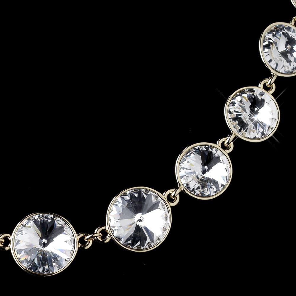 Clear Round Swarovski Element Crystal Necklace 9607 Earrings 9600