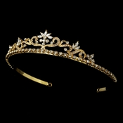 Gold Floral Bridal Tiara HP 11109