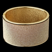 Gold Glitter Sparkle Wide Bangle Bracelet 82001