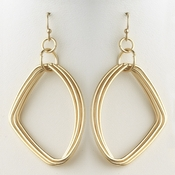 Gold Hoop Bridal Wedding Earrings 9516