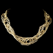 Gold Light Topaz Modern Necklace Accented With Crystal Beads 9504