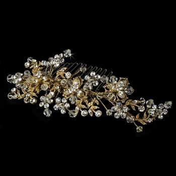 Gold Plated Bridal Comb 6488