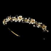 Gold Plated Bridal Headband HP 7877