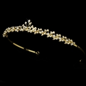 * Gold Rhinestone Simple Bridal Tiara HP 6269 ***4 Left***