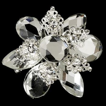 * Gold Vintage Rhinestone Versatile Hair Brooch or Pin 8707 * 3 Left *
