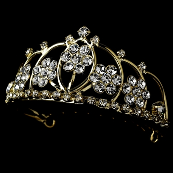 * Gold with Clear Crystals Child's Tiara HPC 400 **Discontinued***