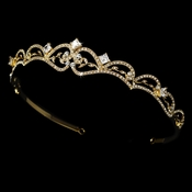 Golden Bridal Tiara HP 179