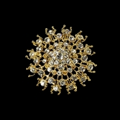 Gorgeous Gold Rhinestone Bridal Brooch 3179***Discontinued***