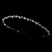 Headpiece 1002 Silver Pink