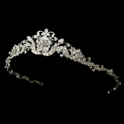 Headpiece 1095 Silver Clear