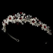 Headpiece 8003 Silver Red  * 1 Left *