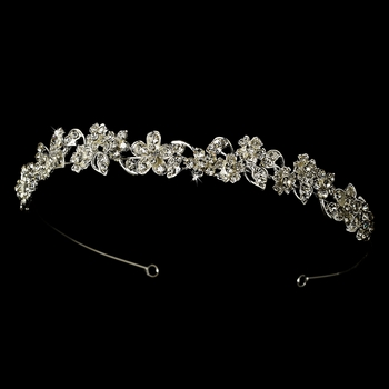 Headpiece 8233 Silver Clear