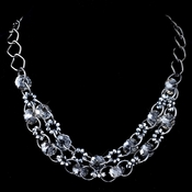 Hematite Smoke Multi Faceted Rondelle Swarovski Crystal Bead Necklace***Discontinued***
