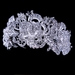 Stunning Sparkling rhinestone rose bridal tiara headpiece (gold or silver) HP 6450
