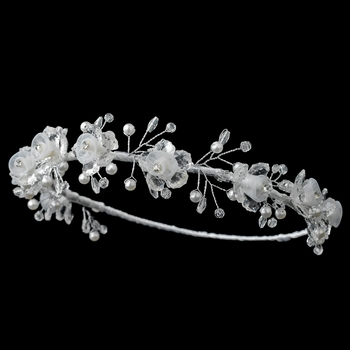 Child's Floral Pearl & Swarovski Crystal Bead Headband***Discontinued***