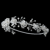 Child's Floral Pearl & Swarovski Crystal Bead Headband