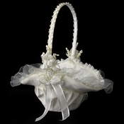 Ivory Bridal Flower Girl Basket FB 4  ***Discontinued***