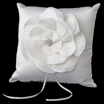 Ivory Flower Ring Pillow 804
