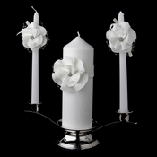 Ivory Flower Unity Candle Set 804