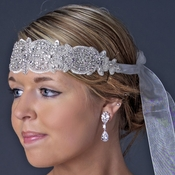Ivory Leaf Rhinestone Headpiece or Belt 263 *** 1 Left ***