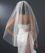 "Ivory Veil with Gold Pencil Edge - Single Layer Fingertip Length (36"" long)"