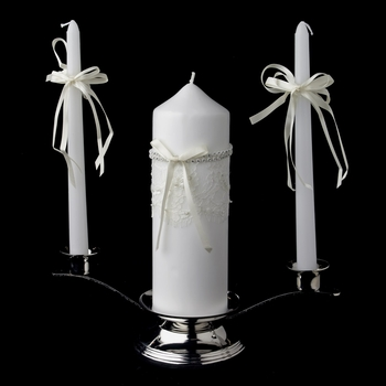 Lace Unity Candle Set 800