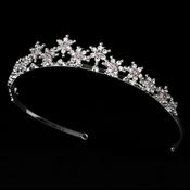 Light Amethyst Winter Snowflake Tiara HP 5439