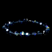 Light Blue Swarovski Crystal Bridal Bracelet B 201 ***Discontinued***