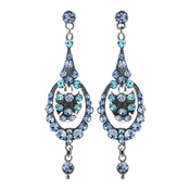Light Blue Vintage Dangle Earrings E 947